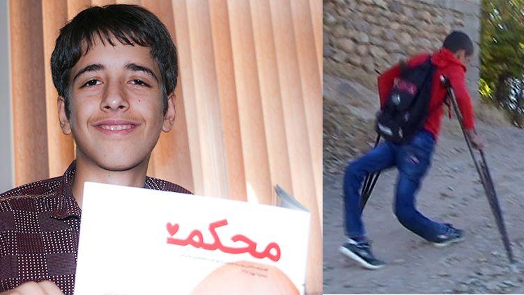 شاهین یوسف خواه نوجوان یاسوجی ،با کمک موسسه محکم بهبود پیدا کرد