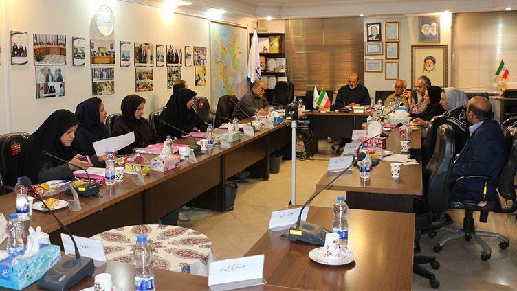 جلسه با مددکاران همکار با مؤسسه خیریه محکم